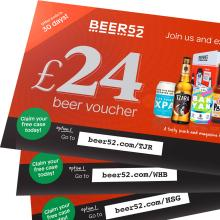 Beer Vouchers given with each order