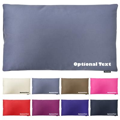 Organic Buckwheat Sleep Pillow Shown in Various Colour Cotton Options