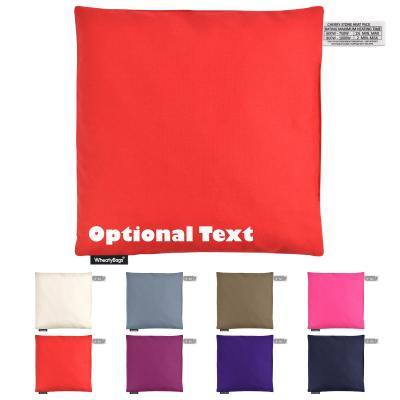 Cherry Stone Square Heat Pack by WheatyBags Montage Image Showing All Colours of Cotton Fabric