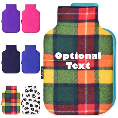 Personalised Hot Water Bottle Cover (with Free Standard 2 Litre Size Bottle) Montage Image