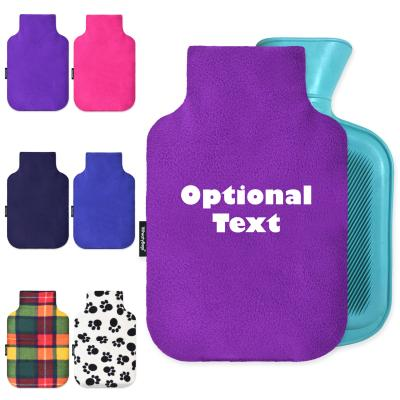 Personalised Hot Water Bottle Cover (with Free Mini 750ml Size Bottle) Montage Image