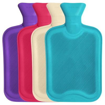 Standard 2 Litre Size Hot water Bottle Montage Image Showing All Colours