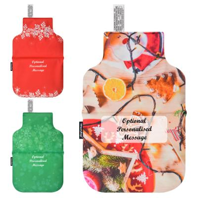 Wheat Bags Christmas Design Personalised Classic Bottle Heat Pack