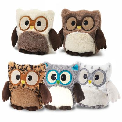 Warmies Plush Heatable Owl Soft Toy Microwave Heat Pack