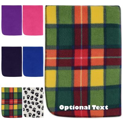 Personalised Pet Blanket Personalised Pet Fleece Blanket showing some of the colour options showing some of the colour options