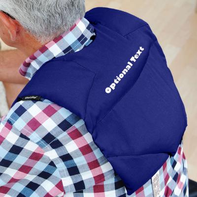 Wheat Bags Upper Shoulder & Back Pain Heat Pack shown in Royal Blue Cotton Fabric