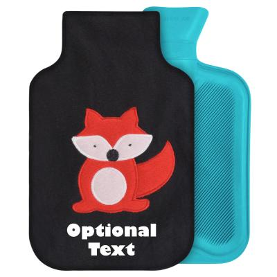 - Standard (2 Litre) - Black with Fox (Personalised with Text)